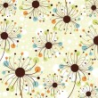 Royalty-Free Stock Vector Image: Retro abstract floral backdrop.