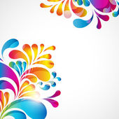 Abstract background with bright teardrop-shaped arches. — 图库矢量图片