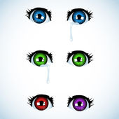 Anime eyes — Stock Vector
