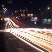Night traffic. — Stock Photo