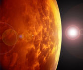 Red planet in space. — Stock Photo