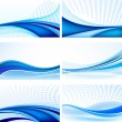Abstract background vector set - Vettoriali Stock