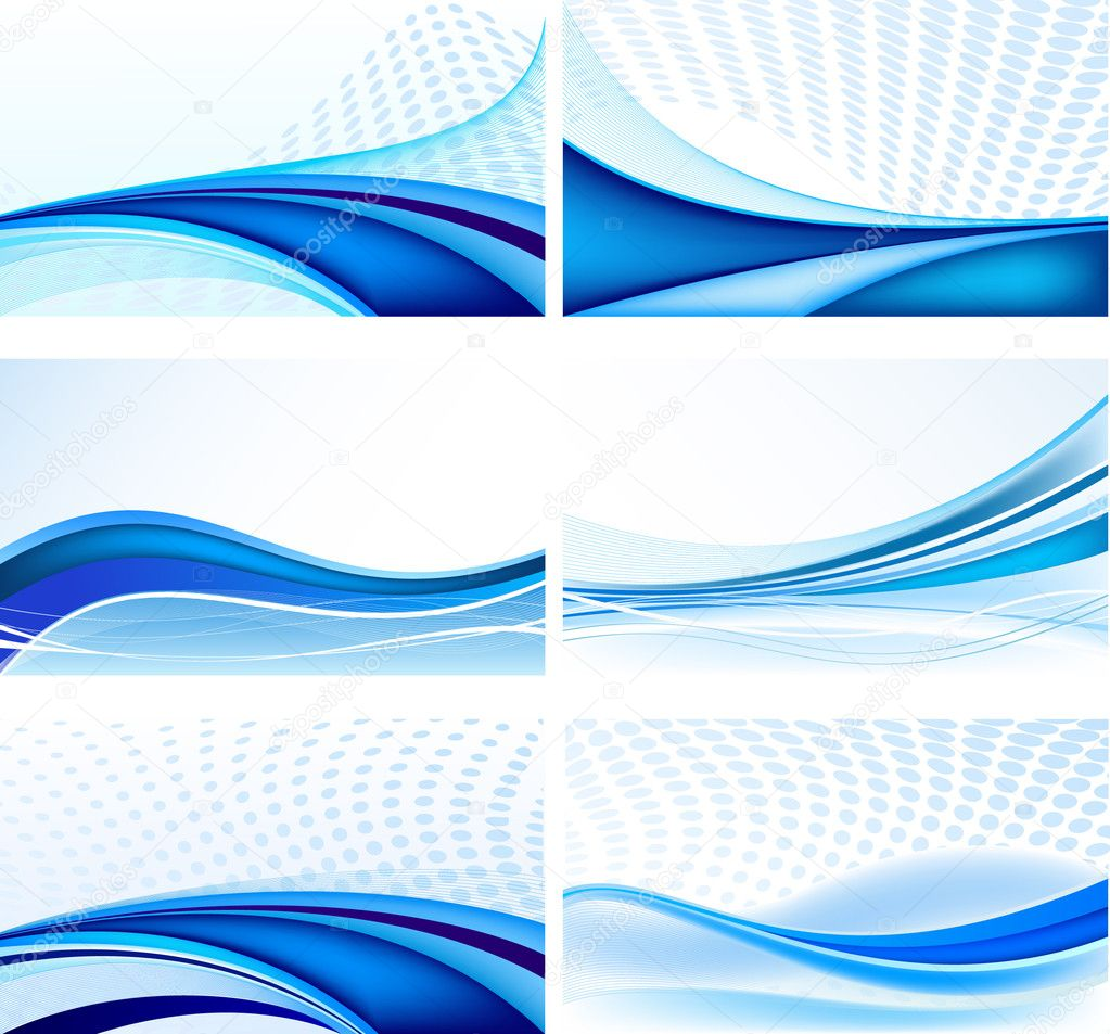 Abstract background vector set — Vektorgrafik #5351757