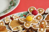 Christmas gingerbread on a plate — Stock Photo