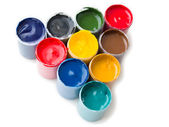 Gouache paints assorted — Stock Photo