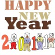 Vector de stock : Happy New Year 2011
