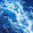 Stormy blue sea wave — Stock Photo