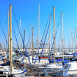 Royalty-Free Stock Photo: Yachts in marina over blue sky