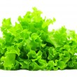 Bunch of green salad isolated over white — Stock Photo
