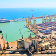 View of huge sea port - Stock Photo