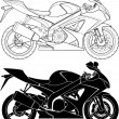 Motorcycle - Stock Vector