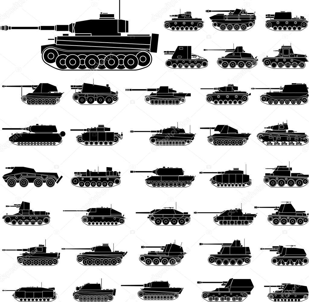 德国坦克 — 图库矢量图像08