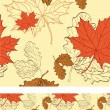 Stock Vector: Seamless background with maple and oak leaves