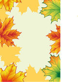Autumn vector frame — Stock Vector