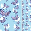 Seamless background with butterflies — Stock Vector #4027273