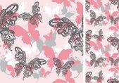 Seamless background with butterflies — Vector de stock