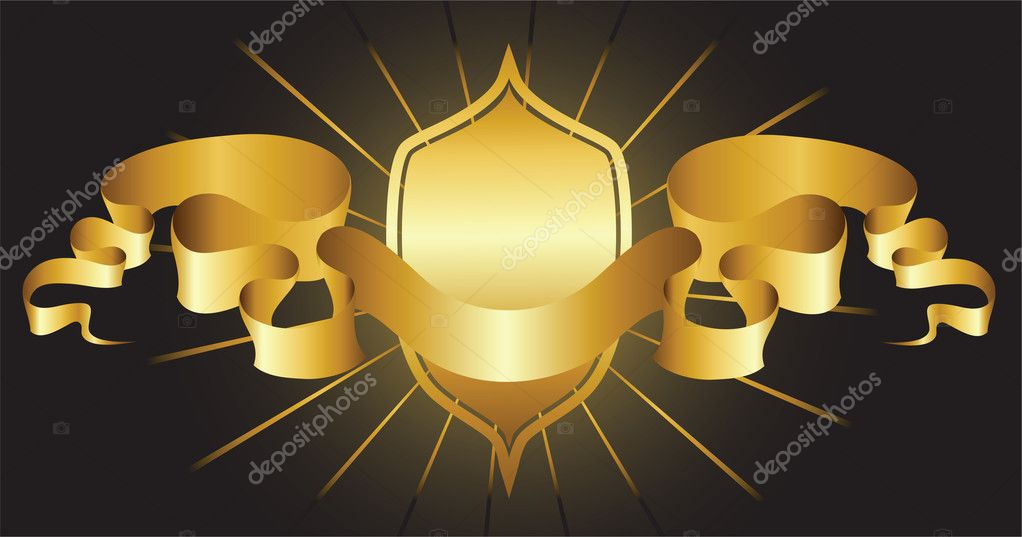 Shield and ribbon  Stock Vector #4147642