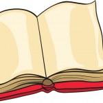 本と鉛筆 — ストックベクタ