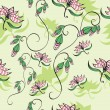 Vector de stock : Seamless background wint flowers