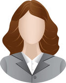 Icon of business women — Stock Vector