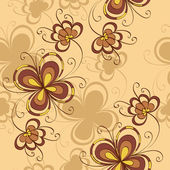 Seamless background with decorative flowers — Stock Vector