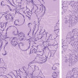 Seamless pattern with decorative flowers — ベクター素材ストック
