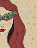 Meisje in een masker — Vector de stock