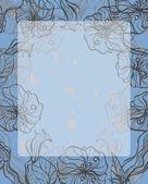 抽象背景与装饰花 — 图库矢量图片
