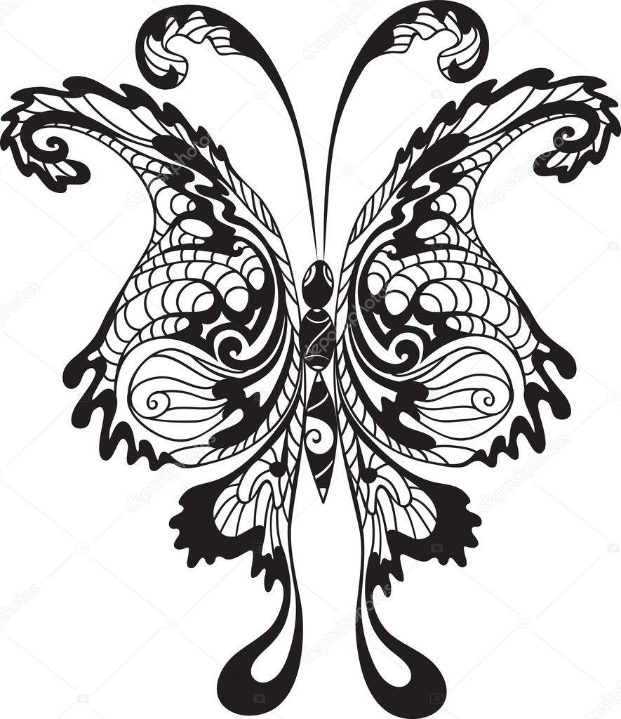 黑蝴蝶— 矢量图片作者 escada