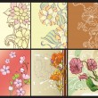 Set of abstract floral backgrounds - Stock Vector