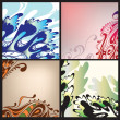 Stock Vector: Set of abstract backgrounds
