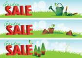Garden Sale Banners — Stock Photo
