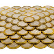Pyramid made of coins — Stock Photo