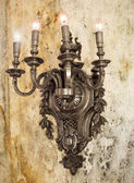 Iron medieval lamp — Stockfoto