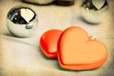 Valentines vintage grunge background — Stock Photo