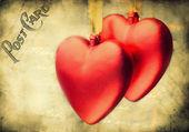 Valentine vintage hearts design — Stock Photo