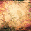 Grunge background with floral ornaments — Photo