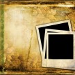Polaroid frame on vintage background — Stock Photo