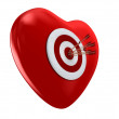Red heart and target - Stock Photo