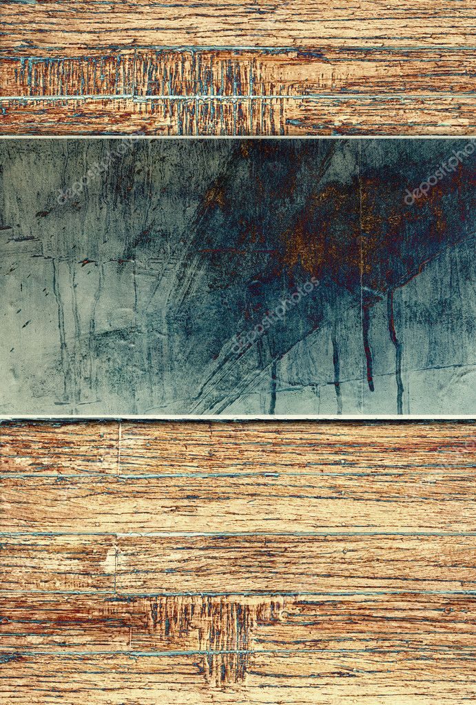 Metal plate on wood background — Stock Photo #4515920