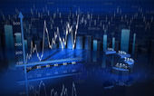 Business chart, diagram, bar, graphic — Stock Photo