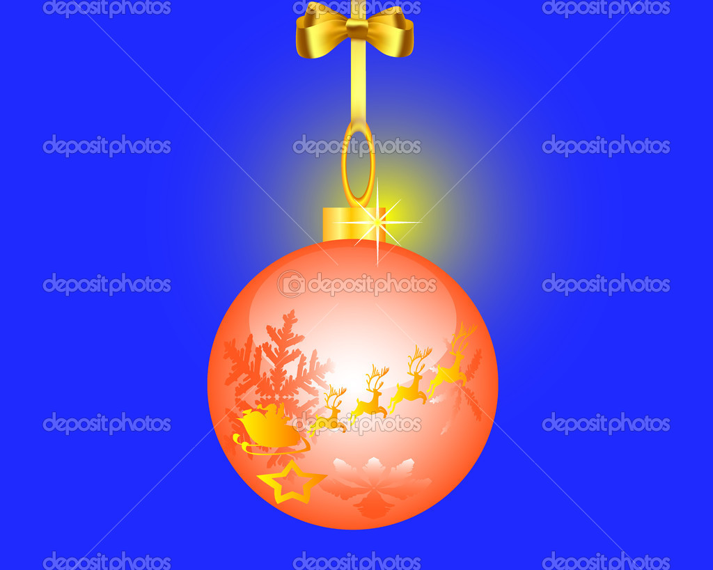 Fur-tree toy on a dark blue background  Imagen vectorial #4323223