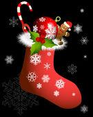 Christmas sock — Stock Vector