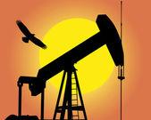 Olejové čerpadlo — Stock vektor