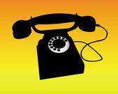 一部电话的剪影 — 图库矢量图片