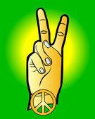 Strony jako symbol pokoju — Wektor stockowy