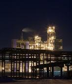 Refinery at night — Stock Photo