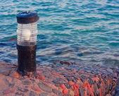 Lanterna farol à beira-mar — Foto Stock