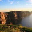 Cliffs of Moher at sunset - Stock Photo