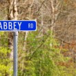 Stock Photo: Abbey rd street sign
